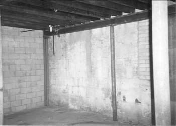 11. West wall (inside addition)